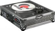 Odyssey Cases FTTDIA ATA Diamond Plated DJ Turntable Case with Fully Foam-Lined Interior