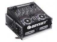 Odyssey Cases FZ1002 ATA Combo DJ Rack Case with 10U Slant & 2U Vertical Spaces