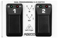 Behringer Dual A/B Switch AB200 Ultra-Flexible Dual Programmable Footswitch