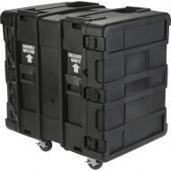 "SKB Cases 3SKB-R914U24 14U Roto 24"" Deep Shock Mount Rack Case w/ Rails Casters & Latche..."