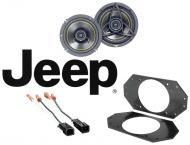 "Jeep Wrangler TJ 1997-2004 Kicker DS400 Factory 4"" Front Coaxial Replacement Speaker Pair"