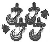 Peavey Pop Out Swivel Caster Set with Anodized Phillips Wood Screws (51220)