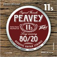 Peavey 80/20 Acoustic Brass-Wound 11s Package String with Balanced (578580)