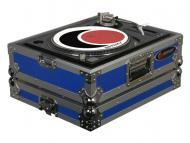 """Odyssey Cases FTTXBLUE Blue Stackable DJ Turntable ATA Case with 2.5"""" Lid Height"""