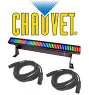 Chauvet Lighting DJ Colorstrip Mini Color Wash Stage Bar Light  with (2) DMX Cables Package