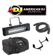 American DJ Lighting Mega Flash DMX Party 800W Stobe Effect Light with Arriba Bag, Truss Clamp &a...