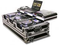 """Odyssey FZGSP12CDJW Remixer Glide Style Series DJ Coffin for 12"""" Mixer & 2 Large Format ..."""