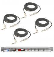 """Peavey Dual Deltaflex Digital Effect Stereo Processor with (4) 1/4"""" to 1/4"""" Cables Package"""