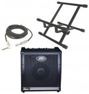 """Peavey KB3 Electronic Keyboard Combo 60W Amp 12"""" Speaker with Stand & 1/4"""" Jack Cable"""