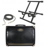 """Peavey Ecoustic E208 Acoustic Combo 30 Watt Amp (2) 8"""" Speakers with Stand & 1/4"""" J..."""