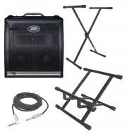 """Peavey KB5 Keyboard Combo 150 Watt 4CH Amp (2) 10"""" Speakers with 1/4"""" Cable, Amp Stand ..."""