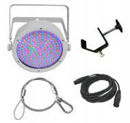 Chauvet DJ Lighting EZpar 64 RGBA White Battery Powered Slim Can LED Light with DMX Cable, Truss ...