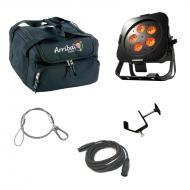 American DJ WiFly Par QA5 Battery Powered Wireless DMX Wash LED Light with Travel Bag, Cables &am...