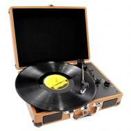 Pyle Home Audio PVTT2UWD Retro Belt-Drive Turntable with Rechargeable Battery
