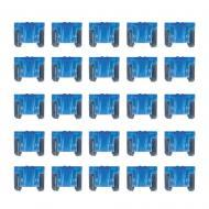 InstallBay ATMLP15-25 Mini Low Profile ATM Style Fuse with 15 Ampere - 25/Pack