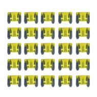 InstallBay ATMLP20-25 Mini Low Profile ATM Fuse with 25 Ampere - 25 Per Package
