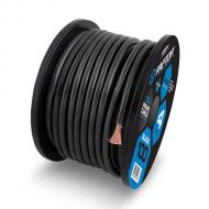 Raptor R41-0-20B 1/0 Gauge Mid Series Power Cable in Copper Clad Aluminum Construction Black 20 Feet