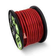 Raptor R51-0-20R 1/0 Awg Pro Series Power Cable in Red Color Oxygen Free Copper Construction 20 ft