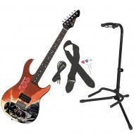 Peavey Walking Dead Governor Red Rockmaster Electric Guitar w/ Instrument Stand
