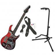 Peavey The Walking Dead Michonne Slash Rockmaster Electric Guitar w/ Gator Stand