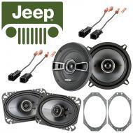 Jeep Wrangler 1985-1996 Factory Speaker Replacement Kicker KSC46 KSC5 Package