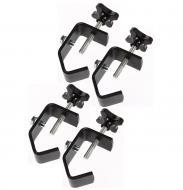 """(4) DJ Pro Lighting Fixture 2"""" Truss or Pipe Mounting Steel C Clamp Package New"""
