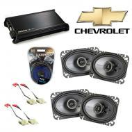 Chevy CK Truck (Full Size) 88-94 Speaker Upgrade Kicker (2)KSC46 & DX400.4 Amp
