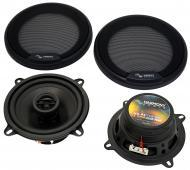 "Harmony Audio HA-R5 Car Stereo Rhythm Series 5.25"" Replacement 225W Speakers & Grills"