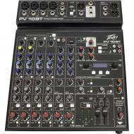 Peavey PV 10 BT 120US 4-Channel Non Powered Compact Studio mixer with Built-in Bluetooth Connecti...