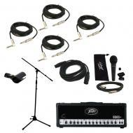 Peavey 6505 + Plus Electric Guitar Amplifier Tube 120W Amp Head Mic Stand Cables