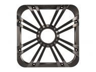 """Kicker 11L712GLC 12"""" Square Charcoal Grille for Solo-Baric L7 Subwoofers w/ Accent LEDs"""
