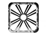 """Kicker 11L712GLCR 12"""" Square Chrome Grille for Solo-Baric L7 Subwoofers w/ Accent LEDs"""