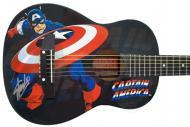 Peavey Marvel Avengers Captain America Graphic 1/2 Size Acoustic Guitar Signed by Stan Lee with C...