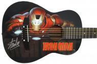Peavey Marvel Avengers Iron Man Graphic 1/2 Size Acoustic Guitar Signed by Stan Lee with Certific...
