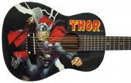 Peavey Marvel Avengers Thor Graphic 1/2 Size Acoustic Guitar Signed by Stan Lee with Certificate ...