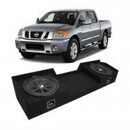 2004-2015 Nissan Titan King or Crew Truck Kicker Comp C12 Dual 12 Sub Box Enclosure - Final 2 Ohm