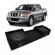 2004-2015 Nissan Titan King or Crew Truck Kicker CompVT CVT12 Dual 12 Sub Box Enclosure - Final 2...