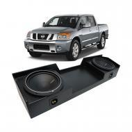 "04-15 Nissan Titan King or Crew Truck Rockford Punch P1S412 Dual 12"" Rhino Coated Sub Box - ..."