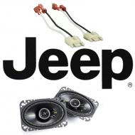 "Jeep Wrangler YJ 1987-1995 Kicker CS464 Factory 4x6"" Front Coaxial Replacement Speaker Pair"