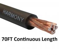Harmony Audio 4 Gauge 4GA Car Stereo Matte Black Power Cable Amp Wire - 70 FT