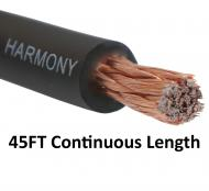 Harmony Audio 1/0 0 Gauge Car Stereo Matte Black Power Cable Amp Wire - 45 FT