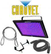 Chauvet DJ Lighting TFX-UVLED LED Shadow Blacklight UV Panel Light with DMX Cable, Safety Cable &...