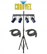 Chauvet DJ Lighting 4Play Multi Color LED Moonflower Effect Bar Light with (2) DMX Cables & T...