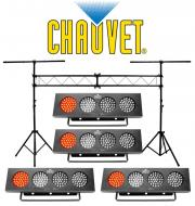 Chauvet (4) DJ BANK Multi Color LED Chase Effect Light with Portable Truss Lighting System