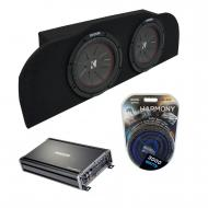 """Compatible with 03-15 Infiniti G35 Kicker CompR CWR10 Subwoofer Dual 10"""" Sub Box CX12001"""