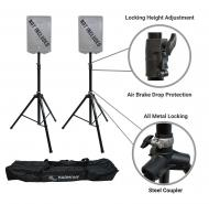 Harmony Audio HA-DSBA Pro Audio DJ (2) Tripod Speaker Stands with Air Brake Drop Cushion