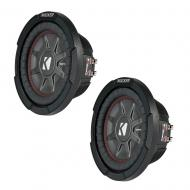 "(2) Kicker 43CWRT82 Comp RT Shallow Suwboofer Dual 2 Ohm 8"" Sub CWRT8 Pair"