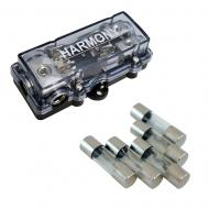 Harmony Audio HA-AGUFD2 Car 2-Way AGU Fused Distribution Block & 80 Amp Fuses