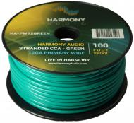 Harmony Audio HA-PW12GREEN Primary Single Conductor 12 Gauge Green Power or Ground Wire Roll 100 ...