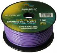 Harmony Audio HA-PW12PURP Primary Single Conductor 12 Gauge Purple Power or Ground Wire Roll 100 ...